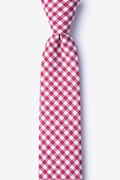 Red Cotton Clayton Skinny Tie