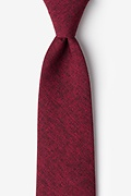 Red Cotton Denver Extra Long Tie