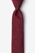 Red Cotton Denver Skinny Tie