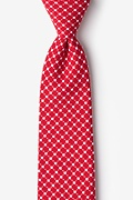 Red Cotton descanso Extra Long Tie