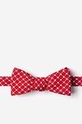 Red Cotton Descanso Skinny Bow Tie