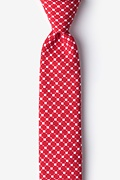 Red Cotton Descanso Skinny Tie