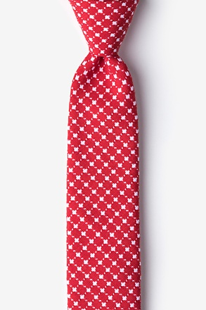 _Descanso Red Skinny Tie_