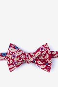 Red Cotton Diesel Self-Tie Bow Tie