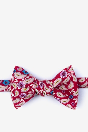 Diesel Red Self-Tie Bow Tie