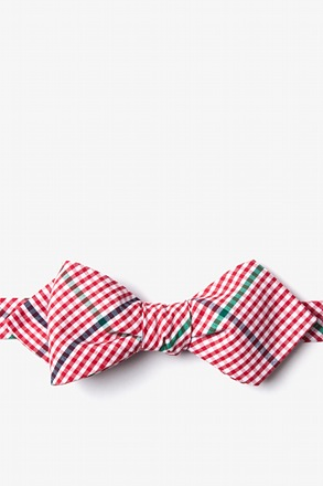 Douglas Red Diamond Tip Bow Tie