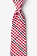 Red Cotton Douglas Extra Long Tie