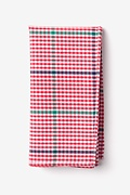 Red Cotton Douglas Pocket Square