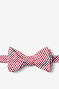 Red Cotton Douglas Self-Tie Bow Tie