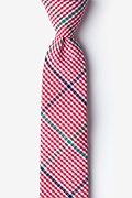 Red Cotton Douglas Skinny Tie