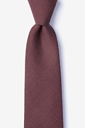 Red Cotton Dover Extra Long Tie