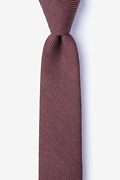Red Cotton Dover Skinny Tie