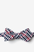 Red Cotton Encinitas Diamond Tip Bow Tie