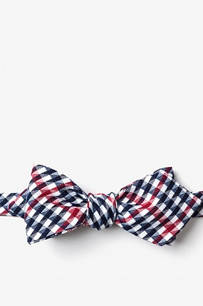 _Encinitas Red Diamond Tip Bow Tie_
