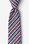 Red Cotton Encinitas Extra Long Tie