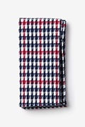 Red Cotton Encinitas Pocket Square