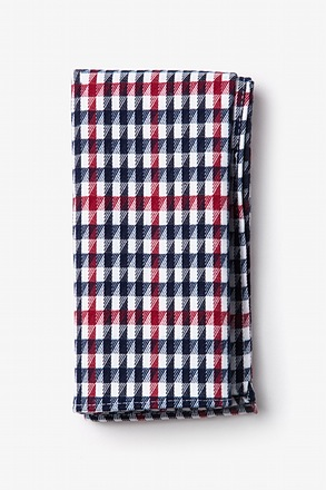 Encinitas Red Pocket Square