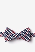 Red Cotton Encinitas Self-Tie Bow Tie