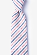 Red Cotton Englewood Extra Long Tie