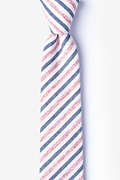 Red Cotton Englewood Skinny Tie