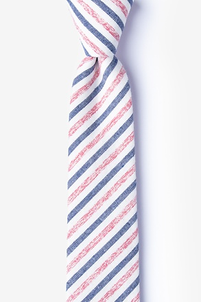 _Englewood Red Skinny Tie_