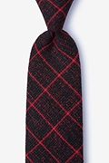 Red Cotton Fletcher Extra Long Tie