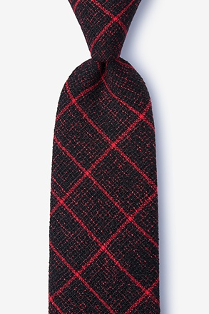 Fletcher Red Extra Long Tie