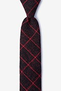 Red Cotton Fletcher Skinny Tie