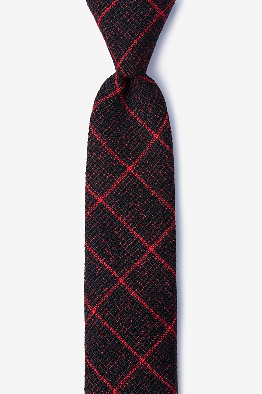 Fletcher Red Skinny Tie Photo (0)