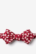 Red Cotton Florence Diamond Tip Bow Tie
