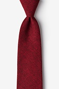 Red Cotton Galveston Extra Long Tie