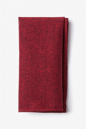 Galveston Red Pocket Square