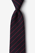 Red Cotton Glenn Heights Extra Long Tie