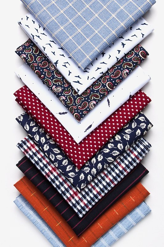 Glenn Heights Red Pocket Square Photo (1)
