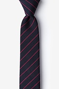 Red Cotton Glenn Heights Skinny Tie