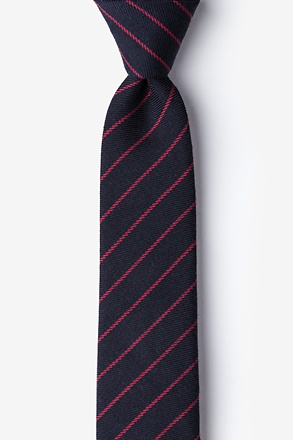 _Glenn Heights Red Skinny Tie_