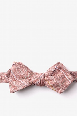 _Globe Red Diamond Tip Bow Tie_