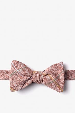 Globe Red Self-Tie Bow Tie