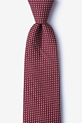 Red Cotton Gregory Extra Long Tie