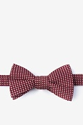Red Cotton Gregory Self-Tie Bow Tie
