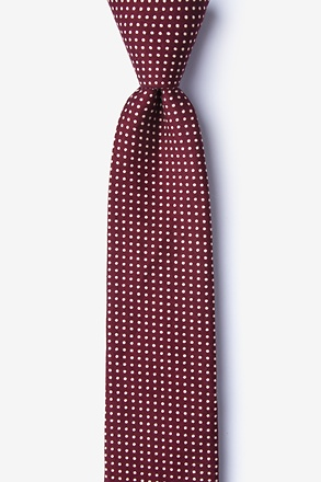 _Gregory Red Skinny Tie_
