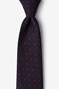 Red Cotton Gresham Extra Long Tie