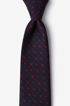 _Gresham Red Extra Long Tie_