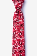 Red Cotton Grove Skinny Tie