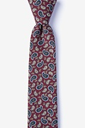 Red Cotton Hamilton Skinny Tie