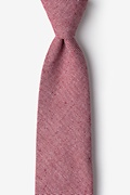 Red Cotton Hitchcock Extra Long Tie