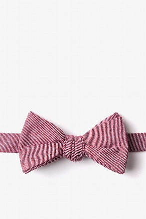 Hitchcock Red Self-Tie Bow Tie