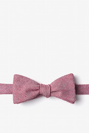Hitchcock Red Skinny Bow Tie