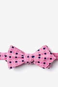 Red Cotton Jamaica Diamond Tip Bow Tie