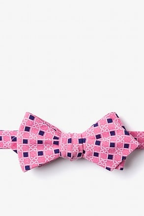 _Jamaica Red Diamond Tip Bow Tie_